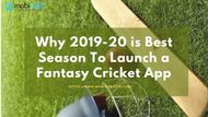 Why it is Perfect Idea to Launch Fantasy Cricket App Before 2020
