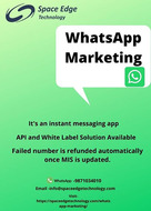 One of the Best WhatsApp Marketing service provider in India.
