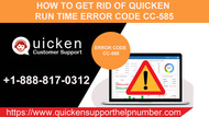Unable to fix Quicken error CC-585? Use these tips.